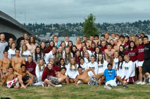 team and cheerleaders 2014